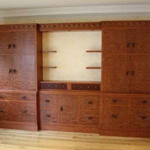 Study bookcase in bubinga
