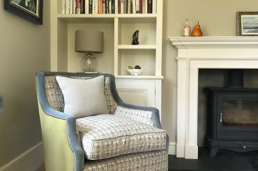 Fitted bookcase to Edwardian house