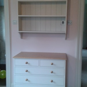 Children's chest of drawers and bookcase