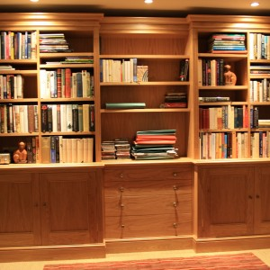 Oak office bookcases